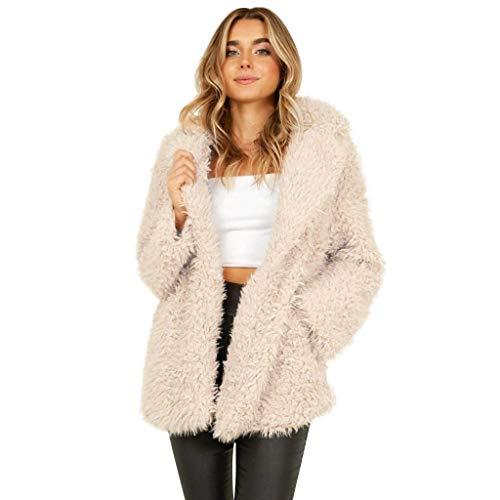 Why Should You Buy perfectCOCO Women's Faux Fleece Lapel Coat Open Front Cardigan Casual Warm Winter...