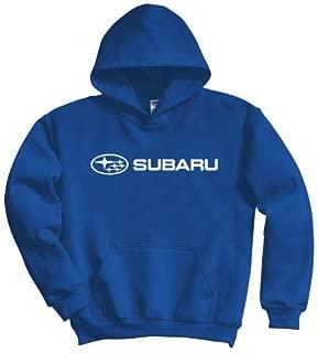 SUBARU Genuine Logo Blue Basic Pullover Hoodie Impreza STI WRX Forester Outback Ascent Legacy Crosstrek BRZ (Large)