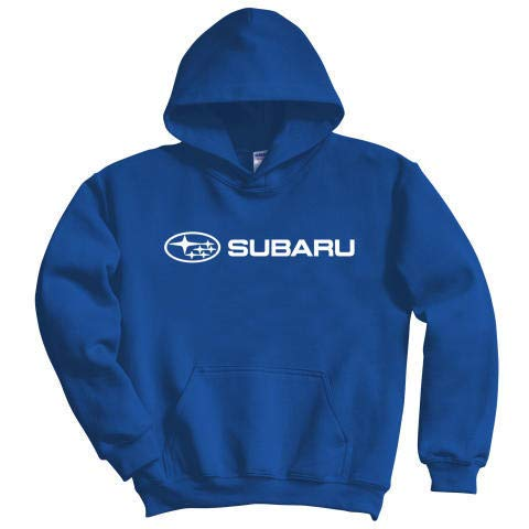 Subaru Genuine Logo Blue Basic Pullover Hoodie Impreza STI WRX Forester Outback Ascent Legacy Crosstrek BRZ (Large)