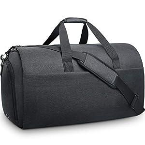 Bolsa Portatrajes de Viaje para Traje Carry-On Garment Bag con Compartimentos para Zapatos y Correa Ajustable para Hombro Mujer