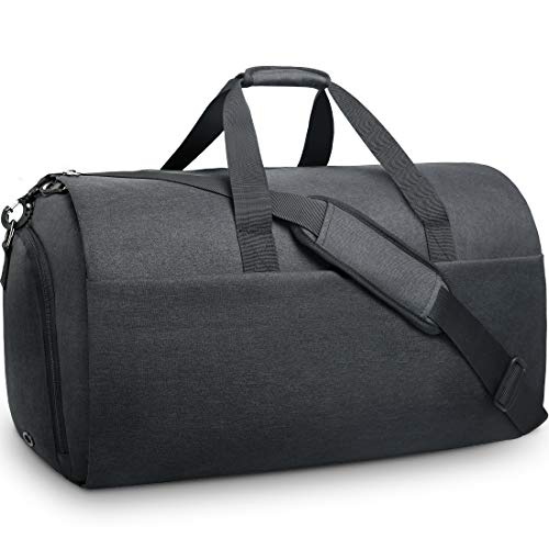 Garment Bags Convertible Suit Travel Bag with Shoes Compartment Waterproof Large Carry on Duffel Bags Garment Weekender Bag for Men Women Black