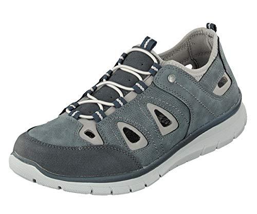 Relife Herren Schuhe Sneaker Slipper 0128-19713-16 mit Gummizug in 2 Farben (Jeans, Numeric_43)