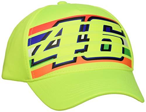 Valentino Rossi Vr46 Classic-Stripes, cap Hombre, Amarillo Fluo, Un tamaño