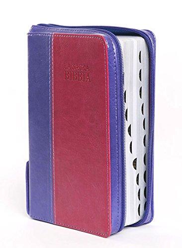 Bibbia Nuova Diodati Viola Rosa - Formato medio (171.250) [Bibbia Media] Taglio argento con rubrica