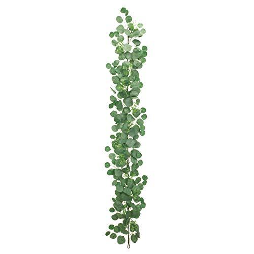 東京堂 造花 シルバーグリーン 葉の全長 約4〜7×全長 約190cm MAGIQブランド ポポラスユーカリガーランド FG009239