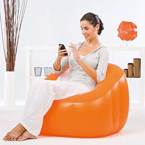 Clkdasjd Aufblasbares Sofa für Erwachsene, Camping, einsitzig, PVC Orange