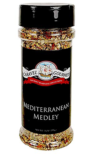 Mediterranean Medley Shaker - Classic Flavors of Mediterranean Cuisine - Kosher, Gluten-Free, Non-GMO, No MSG - A Dry Rub, Marinade, or Seasoning for Meats, Seafood & Vegetables - 4 total oz.