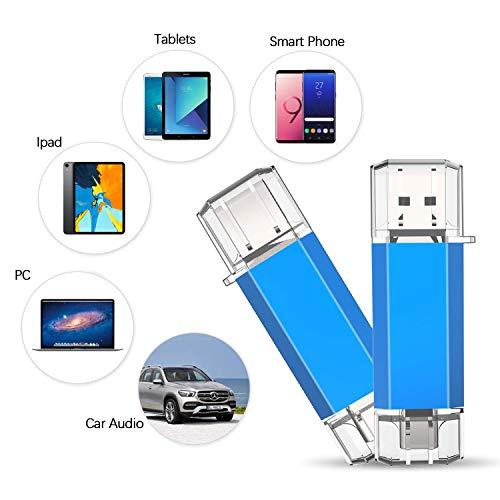 KOOTION 128GB USB C Stick USB-Stick Typ C Speicherstick USB 3.0 Flash Drive Memory Stick 2-in-1 Flash Laufwerk Dual OTG USB Stick C für Android Handy/MacBook/Type C Tablet, Blau