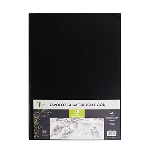 Tavolozza Skizzenbuch, A3, 48 Blatt, 170 g/m², säurefrei, weißes Zeichenpapier