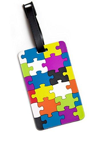 HAUPTSTADTKOFFER Kofferschild, Namensschild, Kofferanhänger ?Puzzle? Etichetta per valigie, 10 cm, Multicolore (Puzzle)