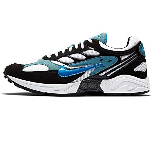 Nike Herren AIR Ghost Racer Laufschuh, Black Photo Blue Mineral Teal Black, 47.5 EU
