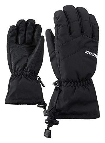 Ziener Kinder LETT AS glove junior Ski-Handschuhe / Wintersport | wasserdicht, atmungsaktiv, , schwarz (black), 6.5