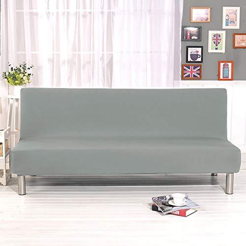 WAXCC Funda de sofá Cama sin Brazos Universal Plegable Fundas de Asiento Modernas Fundas elásticas Protector de sofá Funda de Spandex con futón elástico, Plateado, tamaño L 185,215cm