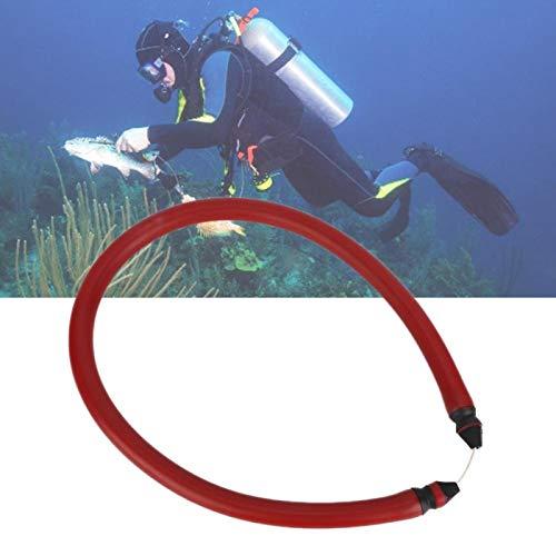 DAUERHAFT Tubo de Goma de Pesca submarina 68Cm de Longitud Durable Fusil de Goma Banda de Goma Mano de Obra Fina Tubo Agradable de Goma, para Bricolaje y reemplazar el Tubo Viejo(Red)