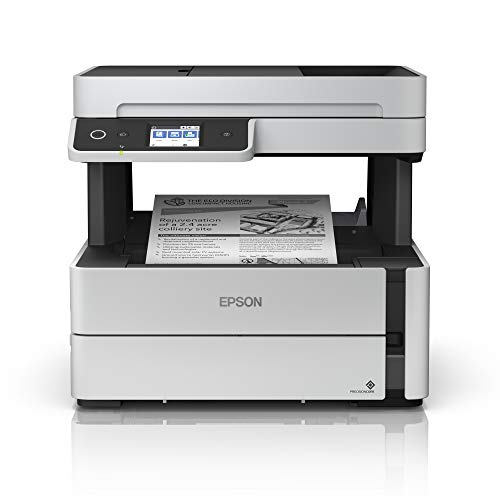 Epson EcoTank ET-M3170 Wireless Monochrome All-in-One Supertank Printer with ADF, Fax and Ethernet PLUS 2 Years of Unlimited Ink Michigan