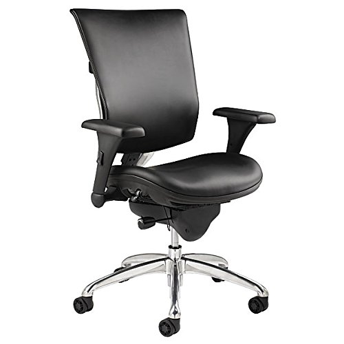WorkPro Commercial Leather Executive Chair, Black
