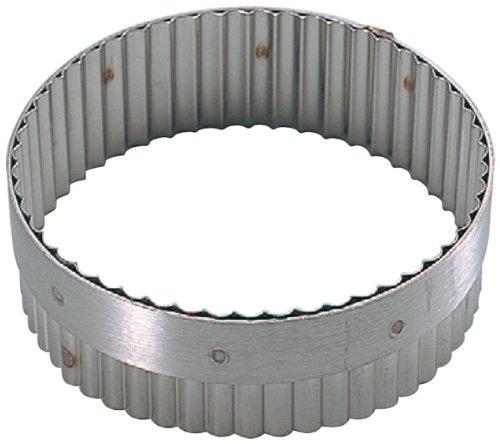 De Buyer 3314.10 - Coppapasta rotondo con bordo ondulato, ø 10 cm