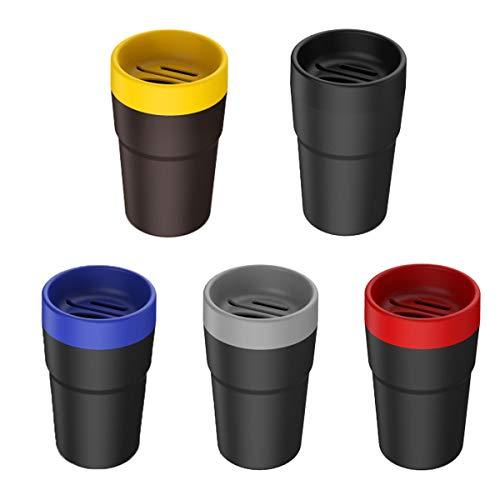 Healifty Cenicero para Coche portátil Caja de pañuelos Cestos de Basura Contenedores de Almacenamiento de Tarjetas de Monedas Accesorios para Interiores (Color Aleatorio)