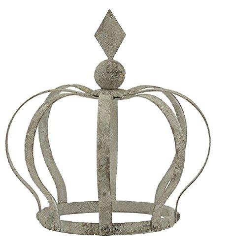 Garten-Krone Deko-Krone Pflanz-Krone Metall antikgrau Shabby Optik Preis für 2 Stück