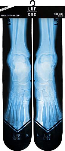 LUF SOX Classics X-Ray Feet - Socken für Damen und Herren, Unisex-Größe 35-39, 40-43 und 44-48, mehrfarbig, Ferse und Fußspitze leicht gepolstert