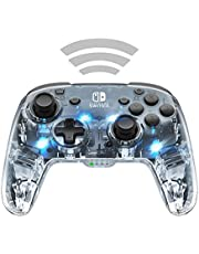 PDP Mando Afterglow Deluxe Wireless Nintendo Switch, Normal, Gris (Prismatic )