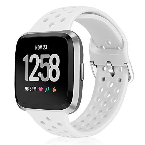 Vodtian Correa de Reloj Deportivo Compatible con Fitbit Versa/Versa 2/Versa Lite/Versa SE/Versa Special Edition, Correa Repuesto Silicona Compatible con Versa Smart Fitness Watch para Mujeres Hombres