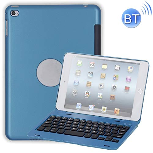 XUAILI Tablet Keyboard Case Laptop Version Plastic Bluetooth Keyboard Protective Cover, for IPad Mini 4 (Color : Blue)