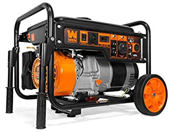WEN GN6000 6000-Watt RV-Ready Portable Generator with Wheel Kit CARB Compliant Black