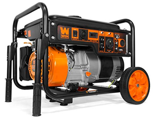 WEN GN6000 6000-Watt RV-Ready Portable Generator with Wheel Kit, CARB Compliant, Black