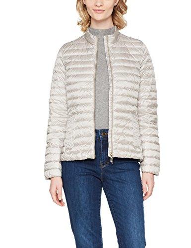 Geox Damen Woman Jacket leichte Jacke, Grau (Sleet Grey/Blanc F1450), 48