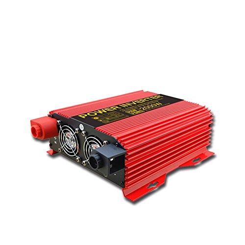 BQ Convertisseur @ Power Inverter Power 2000W DC 12V à 220V AC Convertisseur de voiture PV solaire avec adaptateur allume-cigare (Rouge)
