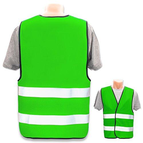 Persönliche Warnweste selbst gestalten mit eigenem Aufdruck * Bedruckt mit Name Text Bild Logo Firma, Menge:1 Warnweste, Farbe/Position:Neon Grün/OHNE Druck