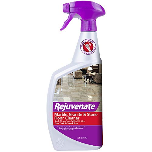 Rejuvenate High Performance Marble Granite and Stone Floor Cleaner Instantly Removes Dirt and Grime Non-Toxic Streak Free Shine 32oz