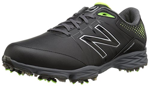 New Balance Men's NBG2004 Waterproof Spiked Comfort Golf Shoe, Black/Green, 10.5 XW US