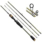 GWBNHH Canne a Peche Silure Surfcasting Spinning Truite, Mer Fishing Rod Carpe Télescopique Carbone Casting Carnassier Stylo Mouche,Casting,1.8M