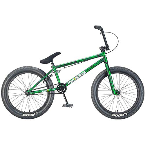 Mafiabikes Kush 2 20 inch BMX Bike Green Splatter Boys and Girls Bicycle