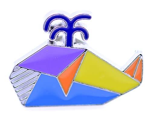 Lizzyoftheflowers - Broche de papel con diseño de patchwork, diseño de grulla de origami