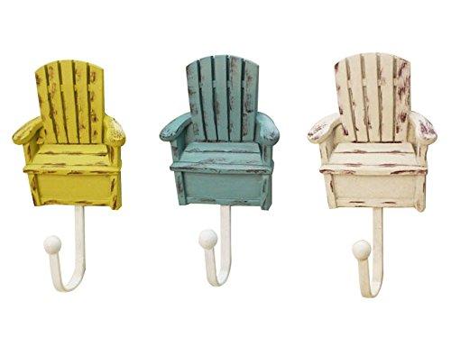 Ensemble de 3 créative vintage crochet / joli crochet, multicolore chaises