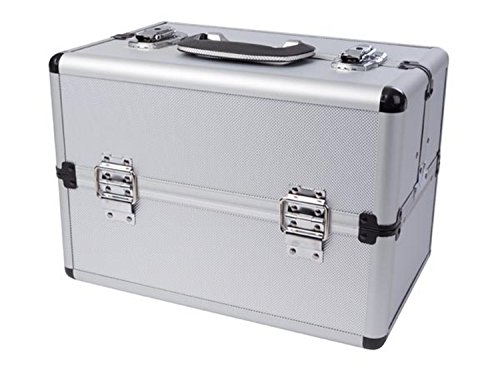 Perel 1819 2 - Caja de almacenaje de aluminio (360 x 220 x