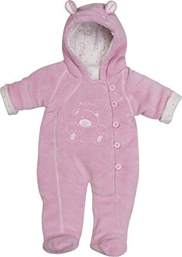 Playshoes Unisex - Baby Schneeanzug Fleece Overall/Fleeceanzug, Dick Wattiert, Oeko Tex Standard 100, Gr. 80, Rosa (Rose 14)