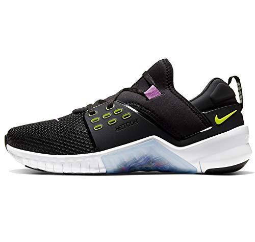Nike Free Metcon 2, Running Shoe Mens, Negro/Bright Cactus/Purple Nebula/Blanco