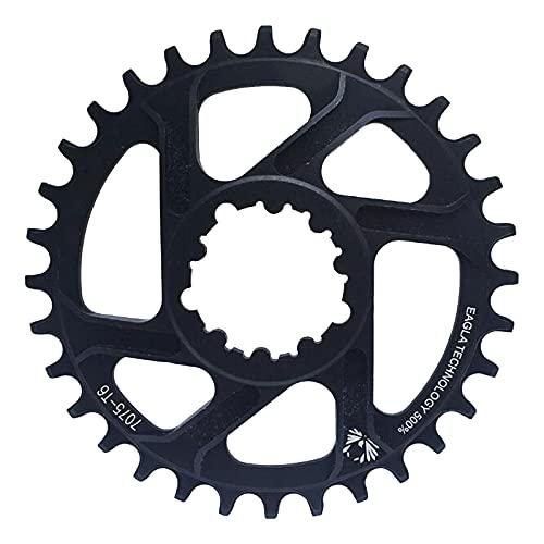 Plato Bicicleta MTB Bicicleta de montaña Disco único 3 mm / 6 mm 32T / 34T / 36T / 38T Plato de Bicicleta Integrado de Montaje Directo Plato de Aluminio Estrecho y Ancho (6mm 38T)