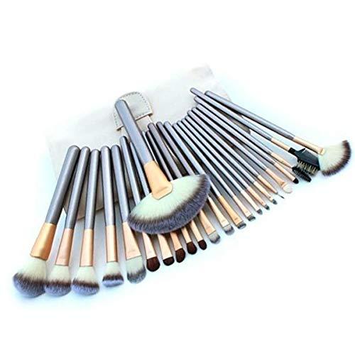 REGAL-HPQ Maquillage Professionnel Brosses Brosse Ensembles / 24pcs Maquillage Doux Pinceaux pinceaux de Maquillage,Silver/24pcs