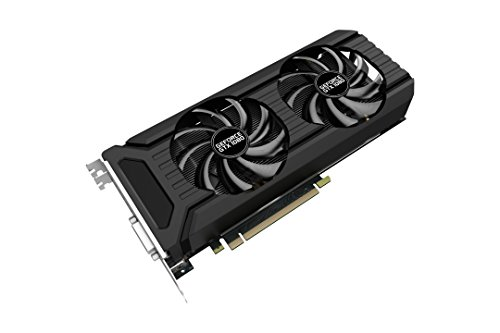 Palit GeForce GTX 1080Dual OC 8GB GDDR5X PCI Express 3.0Grafikkarte–Schwarz