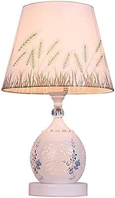 ZGGYA Lampe De Table Lampes De Bureau Table À Découper Géométrique En Céramique Lampe Bureau Style Européen Lumière Lamp Lampe De Table À La Maison Décoration De Mariage Romantique Lampe De Chevet