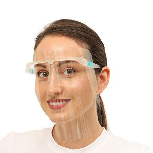 6pcs Face Shield with 3pcs Glasses Frame Set for Women and Men, UPDATED VERSION, The Best Goggle...