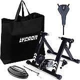 LYCAON Rodillo para Bicicleta, Rodillo de Entrenamiento Magnético, 6 Niveles de Resistencia, Entrenamiento de Ciclismo Interior para Ruedas de 700C o 26' - 29'