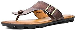 シューズ ファッション 牛革フリップフロップメンズ本革サンダルライトビーチスリッパ男性夏の靴ブラウンワインレッドサンダル男性Zapatos Hombre 快適