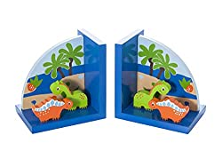 2. Mousehouse Gifts Kids Dinosaur Themed Bookends