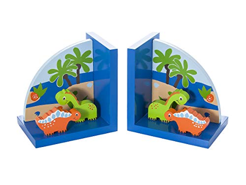 Mousehouse Gifts Kids Dinosaur Themed Bookends for Boys Nursery or Bedroom